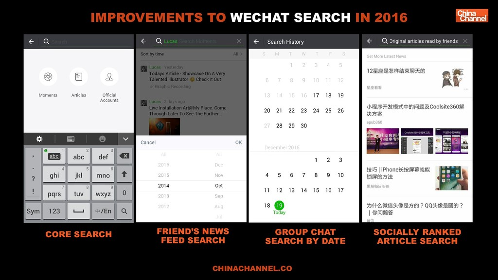 CORE SEARCH FRIEND'S NEWS FEED SEARCH GROUP CHA...