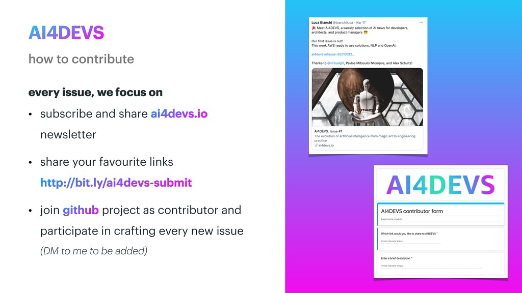 AI4DEVS how to contribute every issue, we focus...