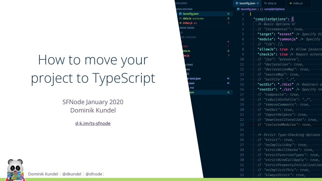 How to move your project to TypeScript SFNode J...