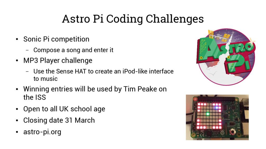 Astro Pi Coding Challenges ● Sonic Pi competiti...