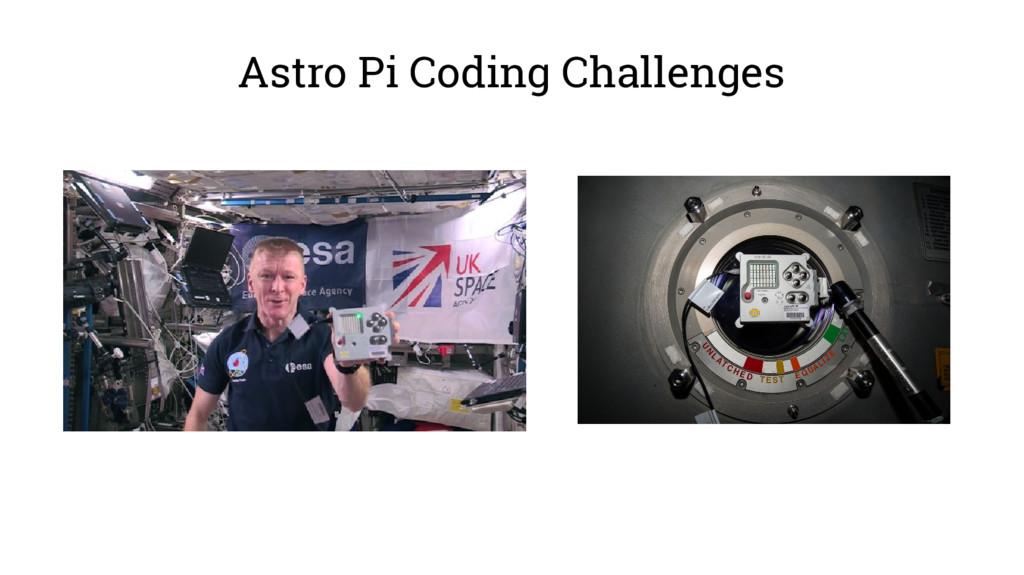 Astro Pi Coding Challenges