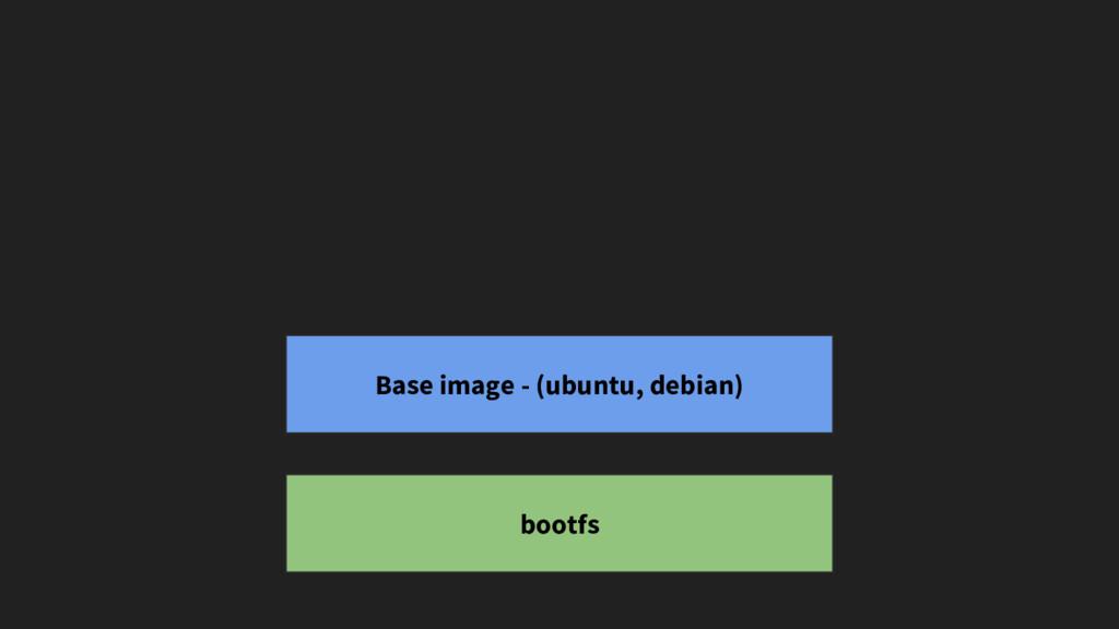 bootfs Base image - (ubuntu, debian)