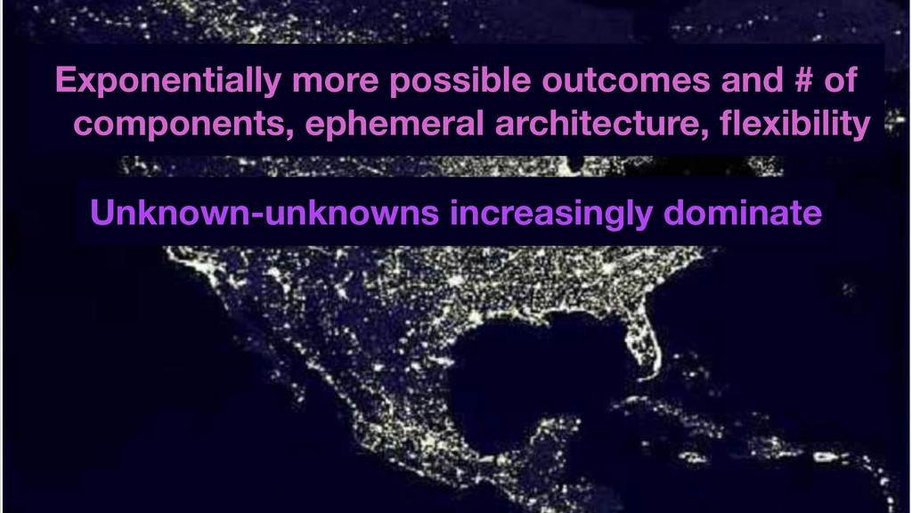 Exponentially more possible outcomes and # of c...