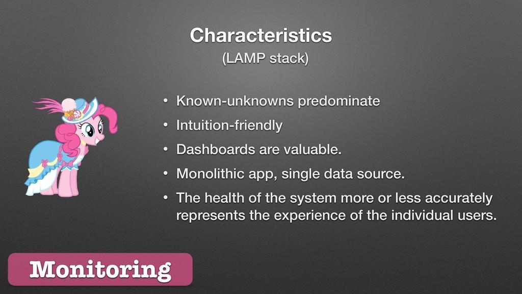 Characteristics Monitoring • Known-unknowns pre...