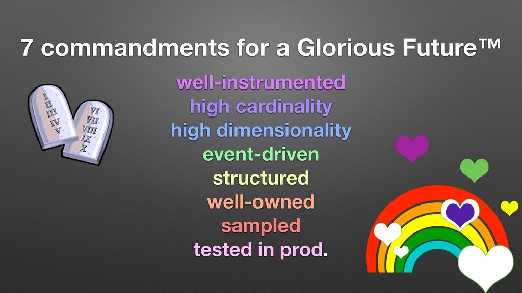 7 commandments for a Glorious Future™ well-inst...