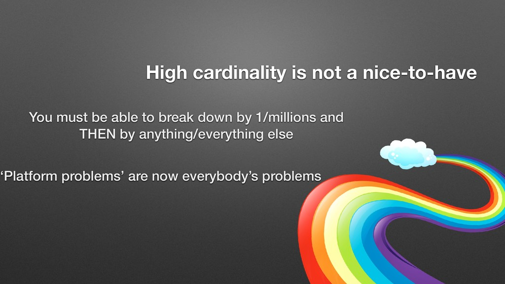 You must be able to break down by 1/millions an...