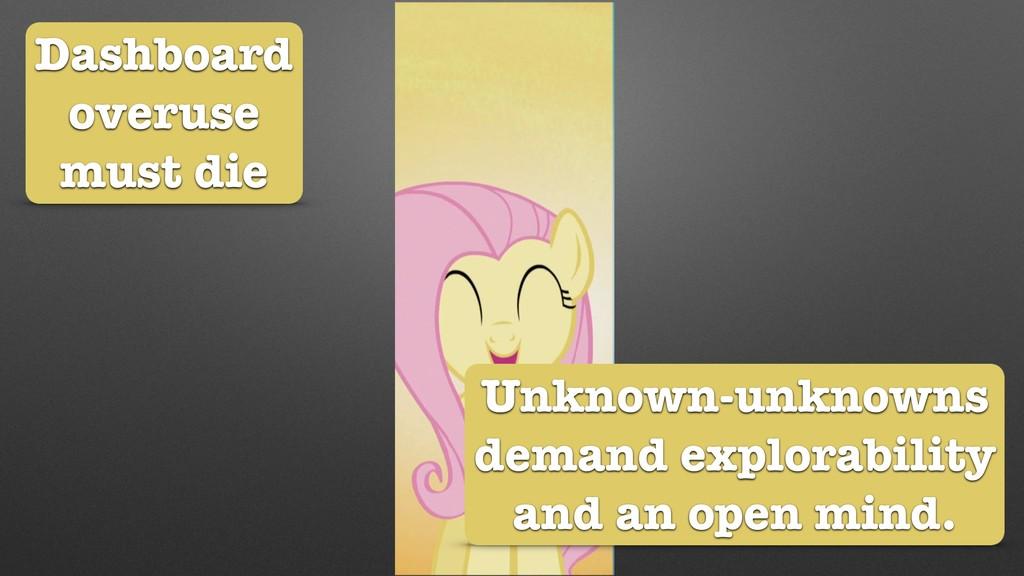 Dashboard overuse must die Unknown-unknowns dem...