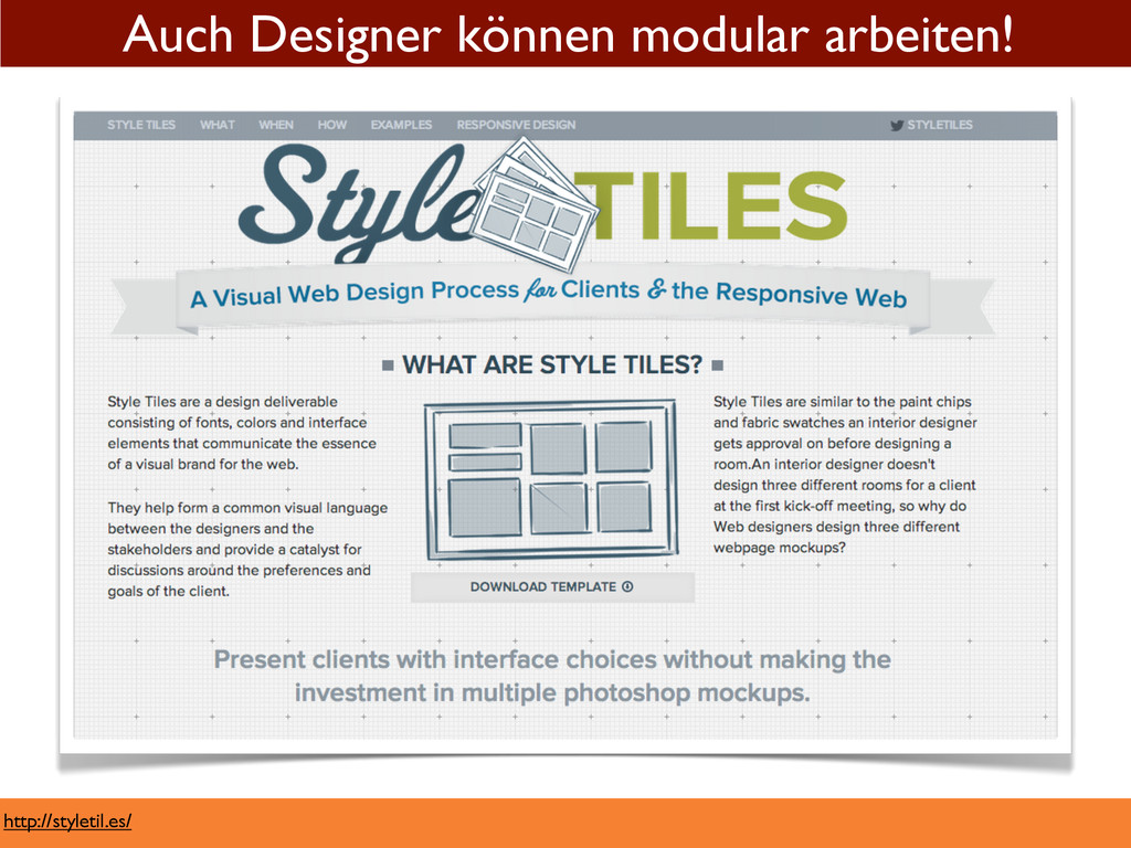 http://styletil.es/ Auch Designer können modula...