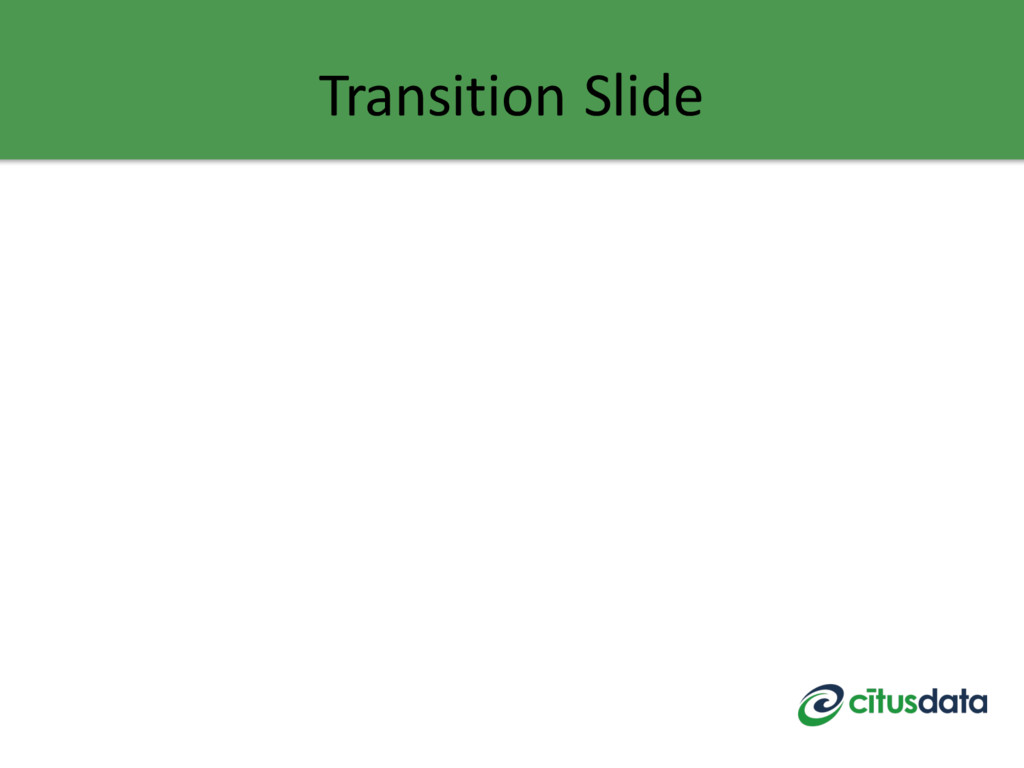 Transition Slide