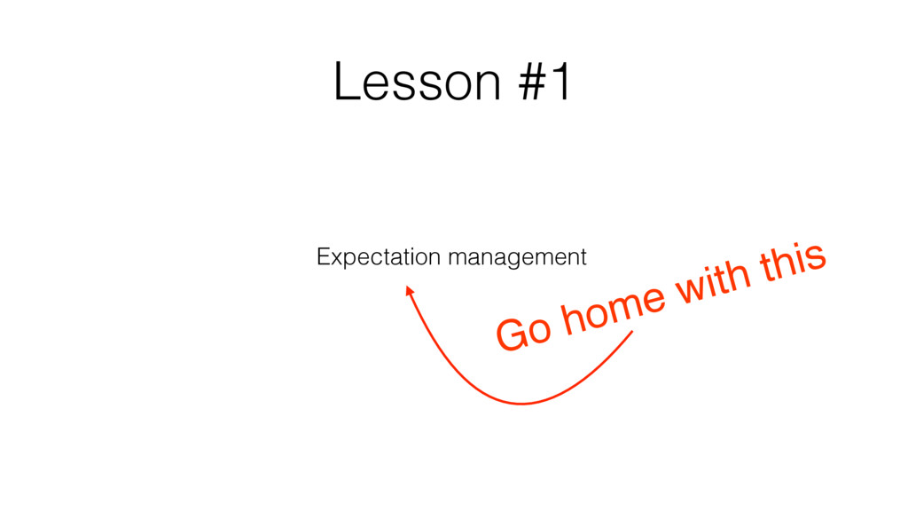Go home with this Lesson #1 Expectation managem...