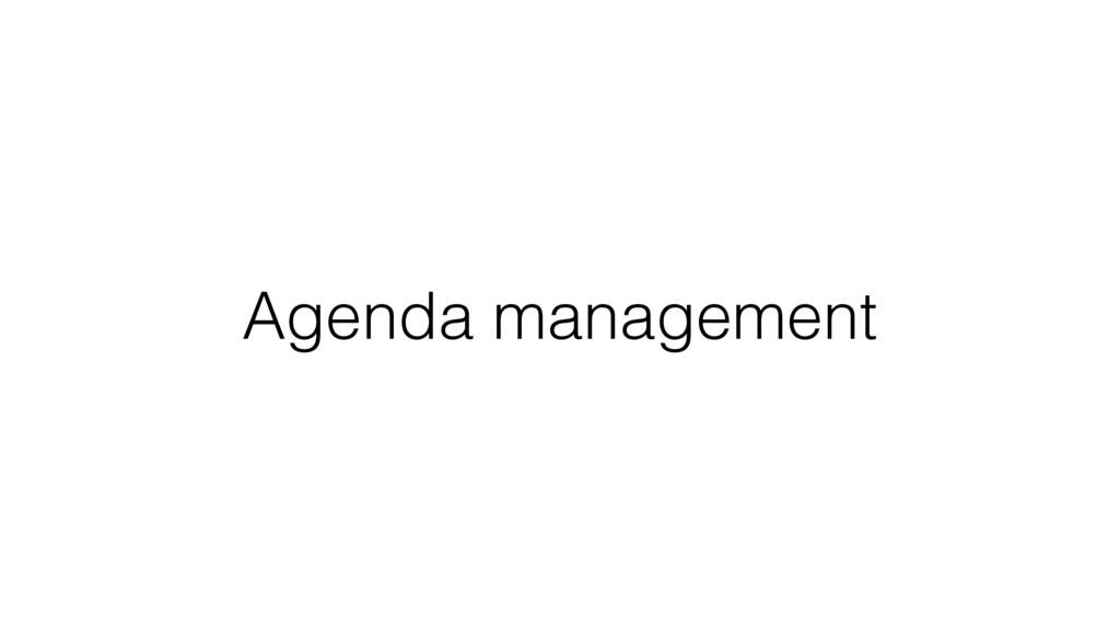 Agenda management