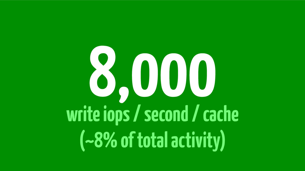 write iops / second / cache (~8% of total activ...