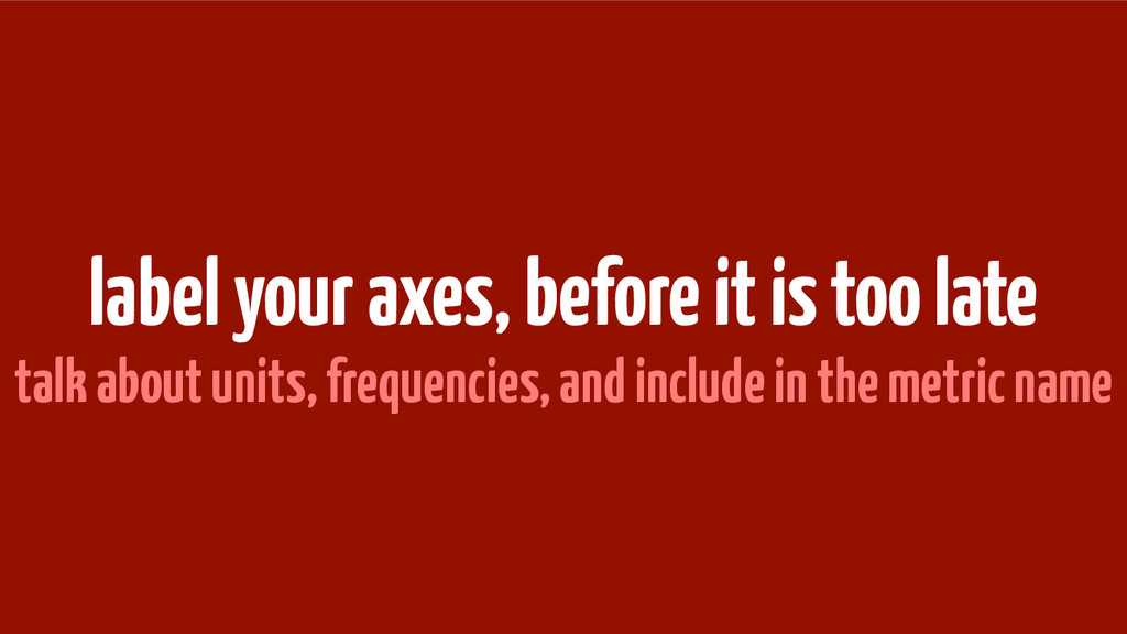 label your axes, before it is too late talk abo...