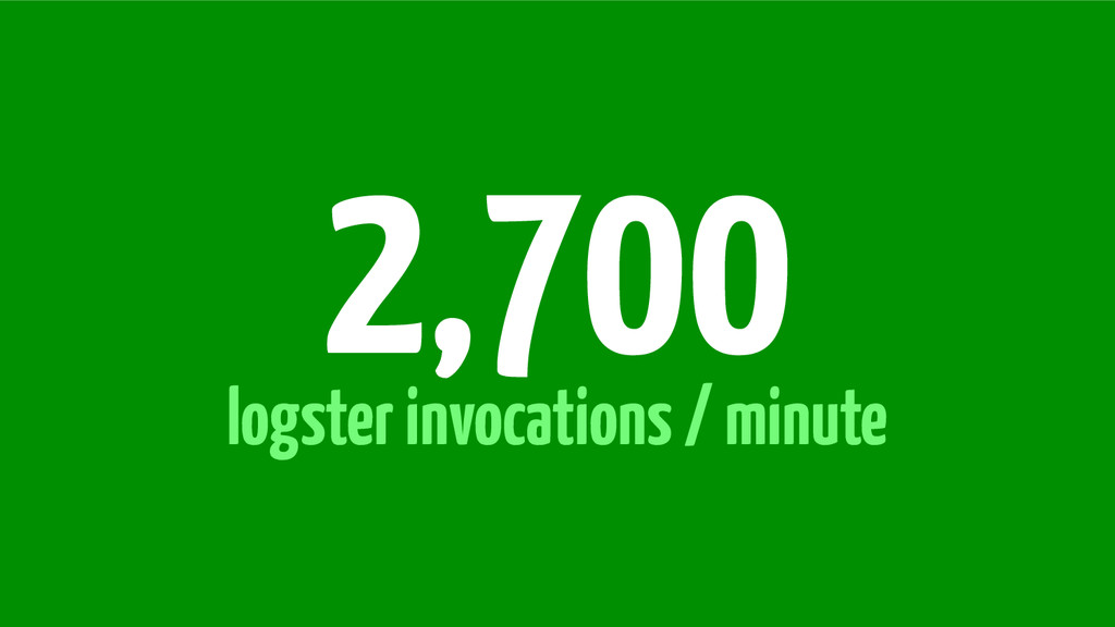 logster invocations / minute 2,700