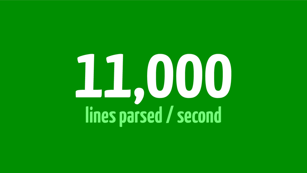 lines parsed / second 11,000