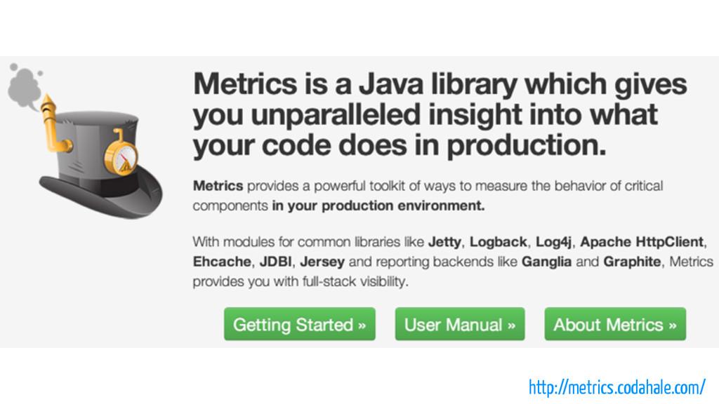 http://metrics.codahale.com/