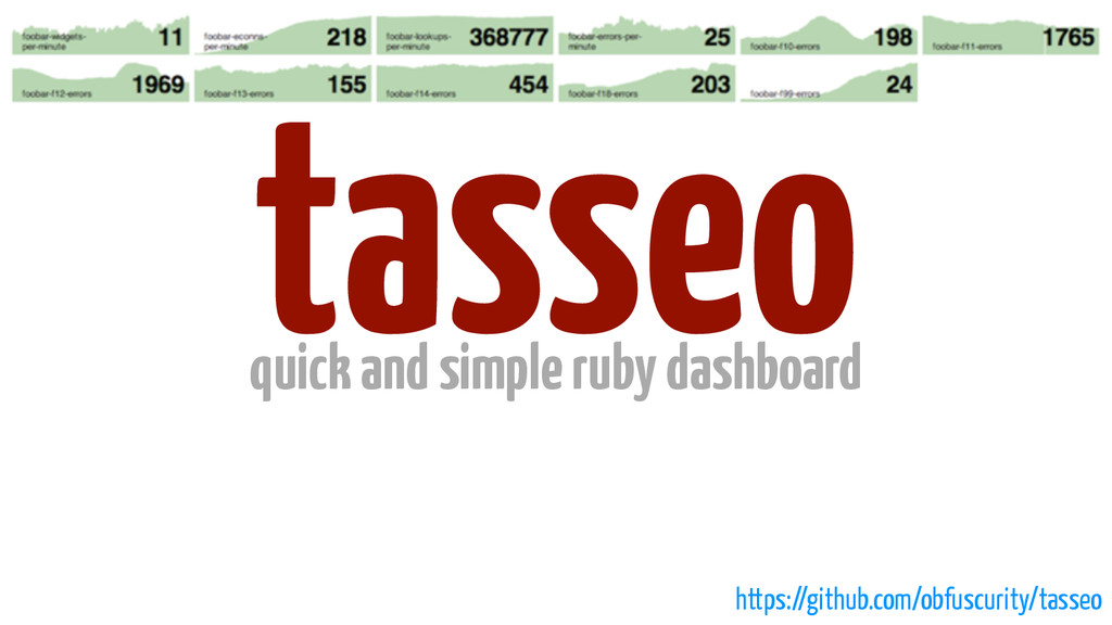 tasseo quick and simple ruby dashboard https://...