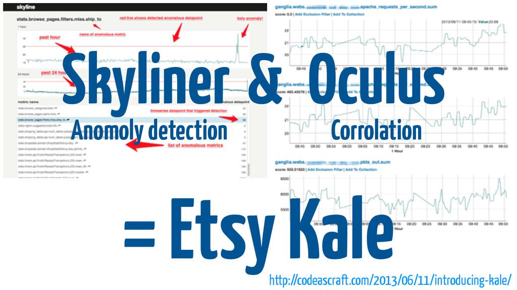 Skyliner Oculus = Etsy Kale Anomoly detection C...