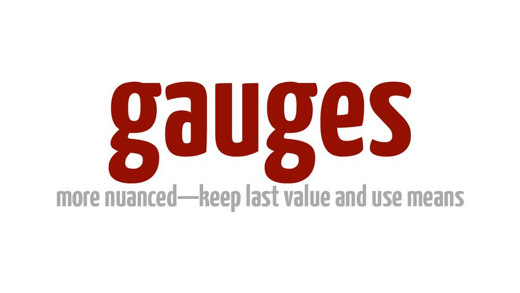 gauges more nuanced—keep last value and use mea...
