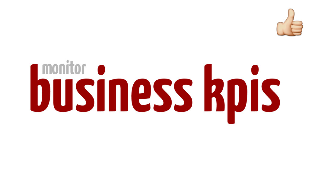 business kpis monitor
