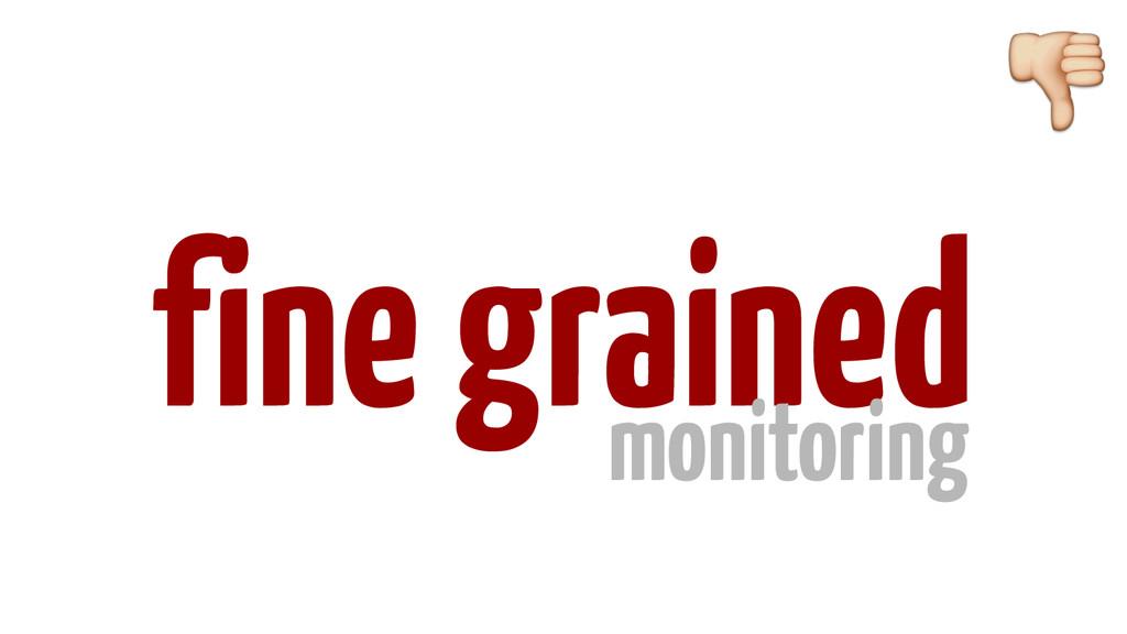 fine grained monitoring