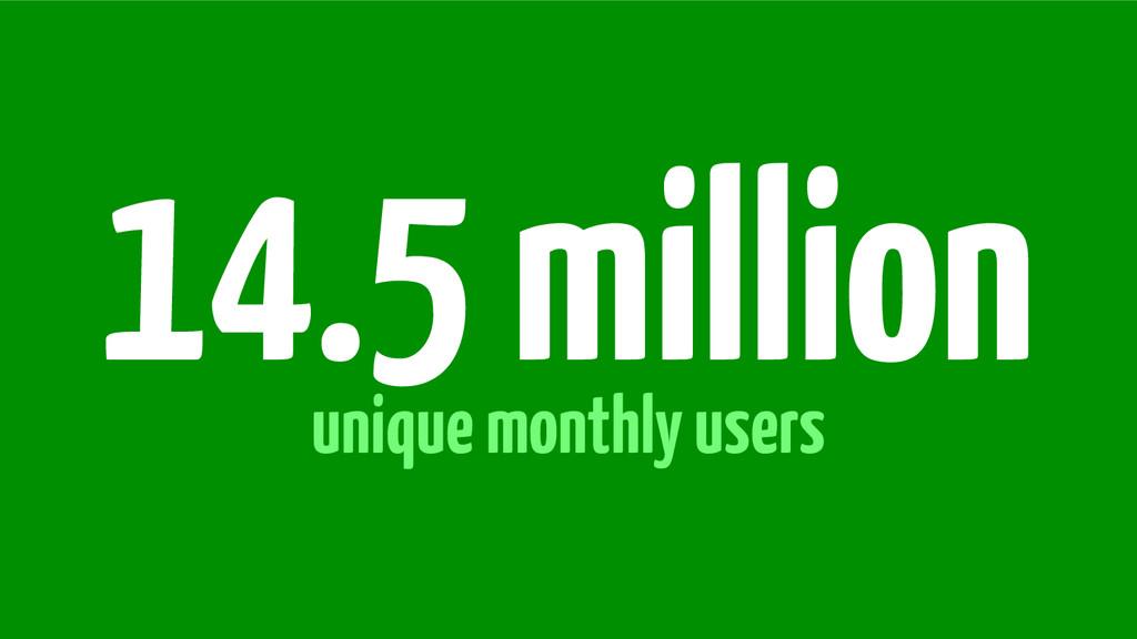 unique monthly users 14.5 million