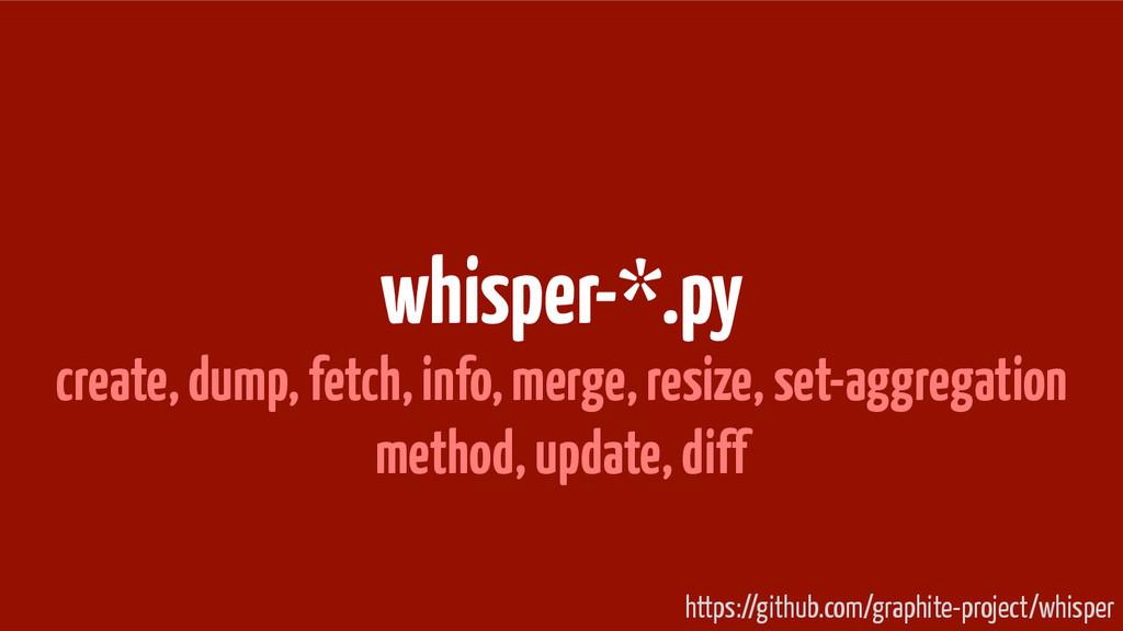 whisper-*.py create, dump, fetch, info, merge, ...