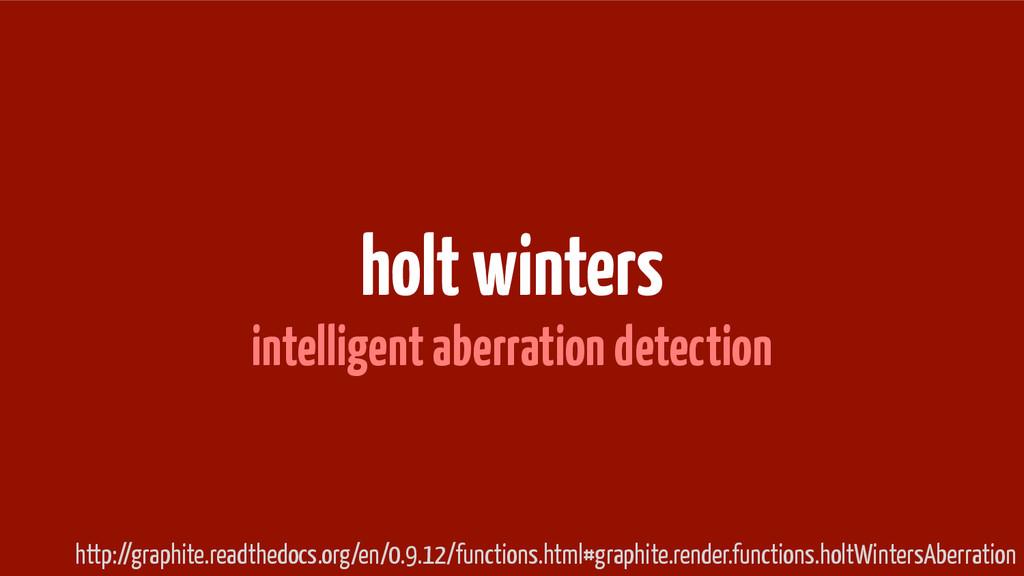 holt winters intelligent aberration detection h...