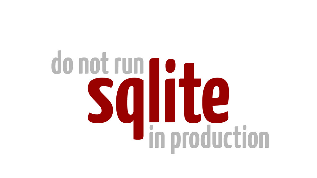 sqlite do not run in production