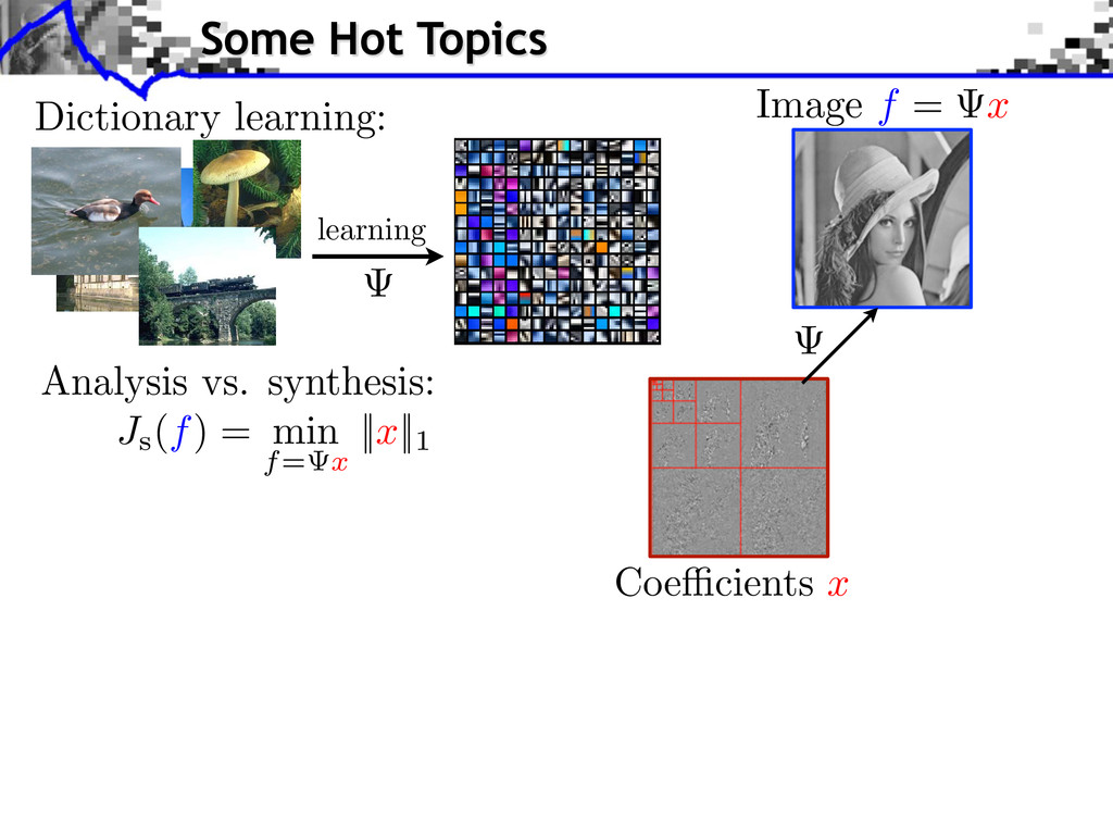 Dictionary learning: Analysis vs. synthesis: le...