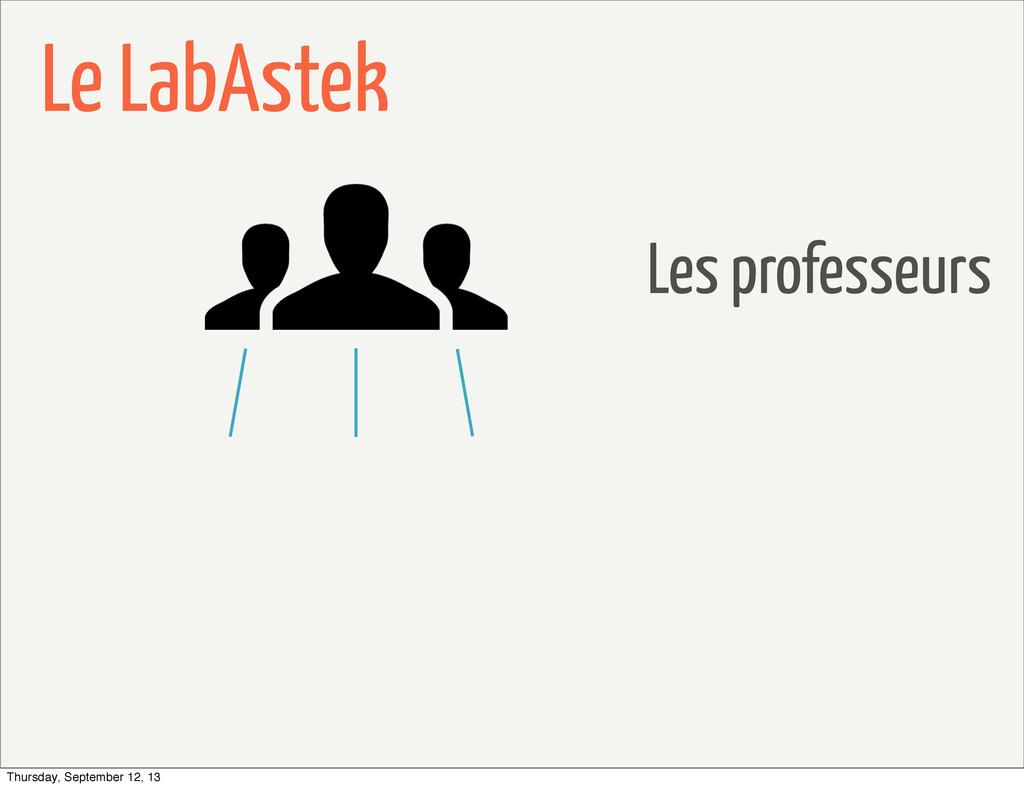Le LabAstek Les professeurs Thursday, September...