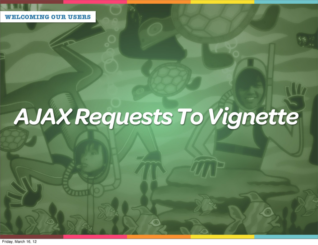 WELCOMING OUR USERS AJAX Requests To Vignette F...