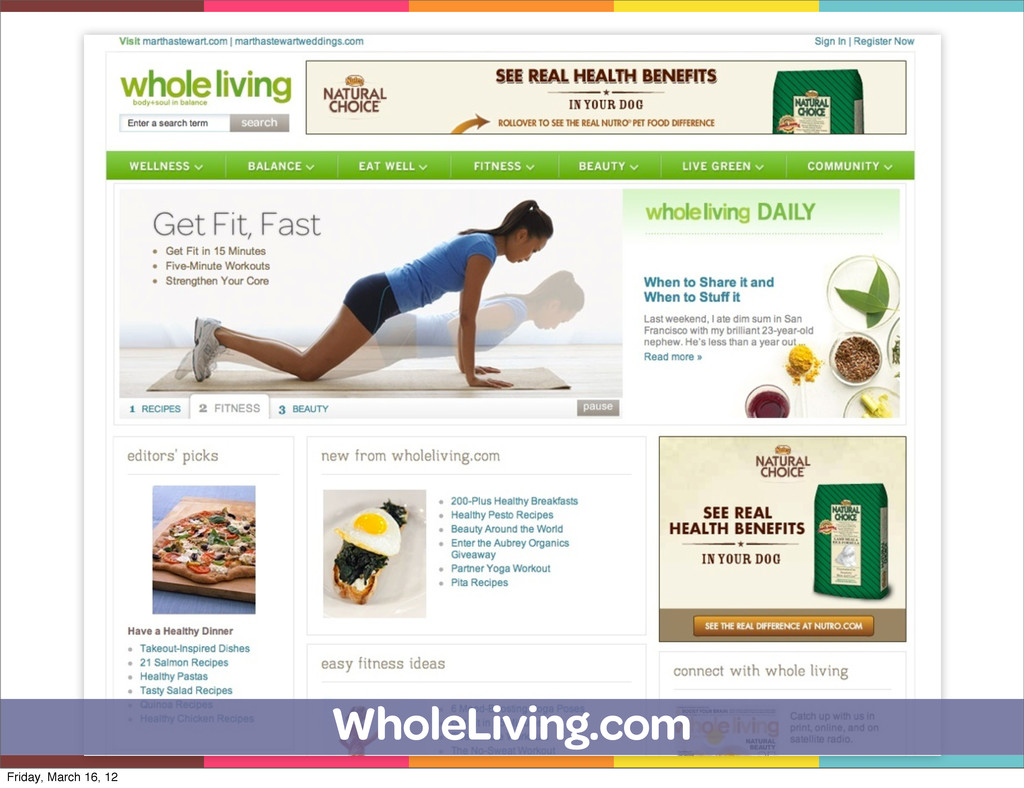 WholeLiving.com Friday, March 16, 12