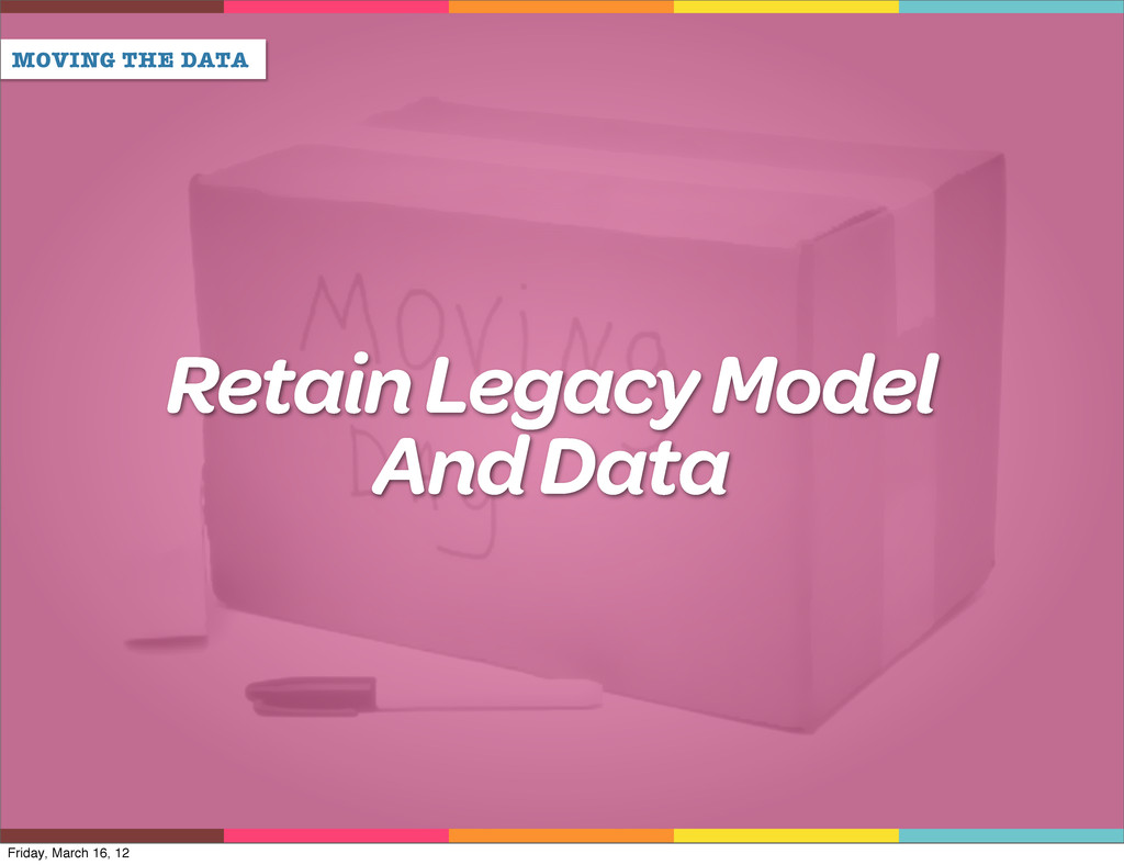 MOVING THE DATA Retain Legacy Model And Data Fr...