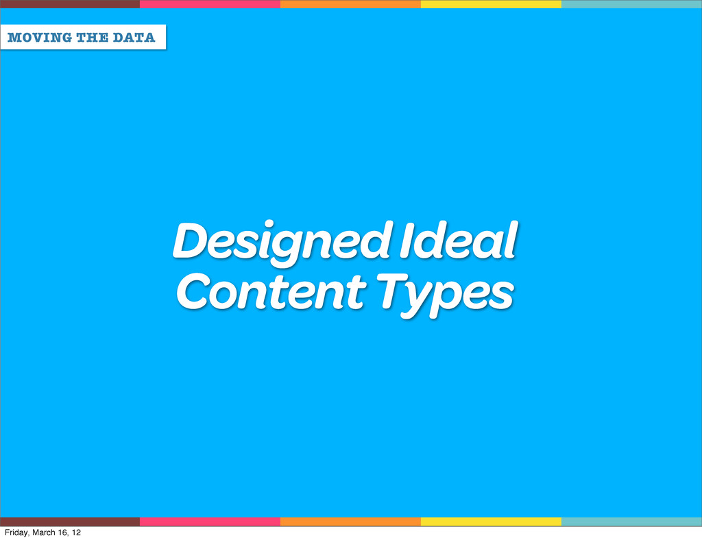 MOVING THE DATA Designed Ideal Content Types Fr...