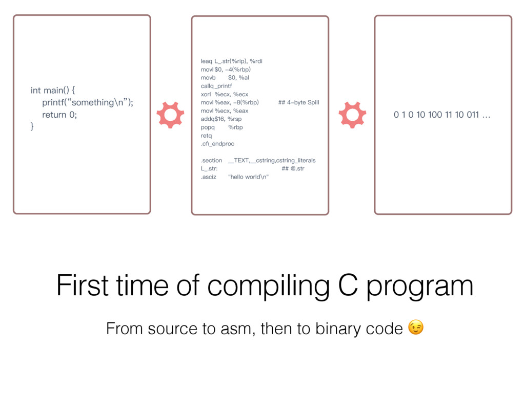 First time of compiling C program From source t...