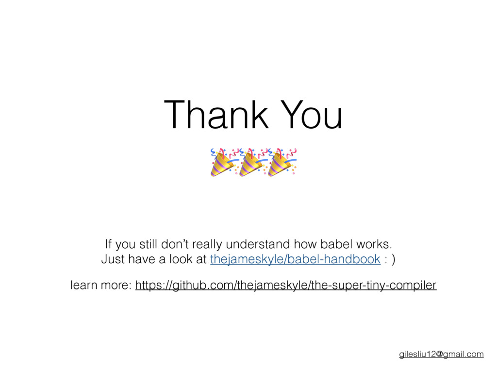 Thank You If you still don't really understand ...