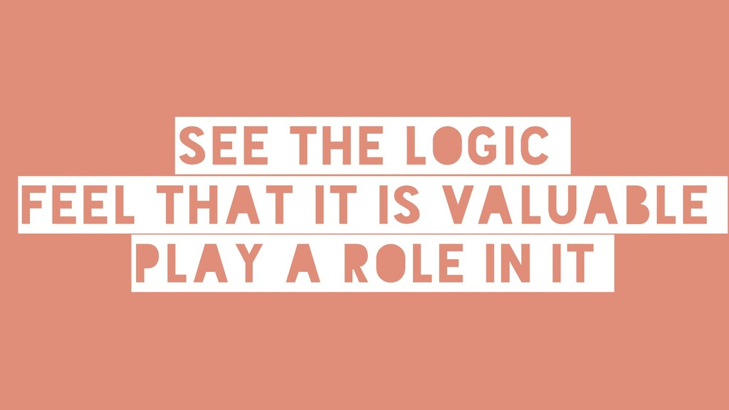 See the logic feel that it is valuable play a r...