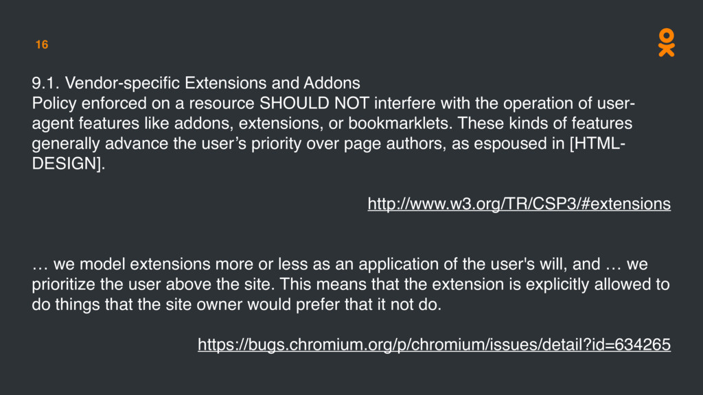 16 9.1. Vendor-specific Extensions and Addons Po...