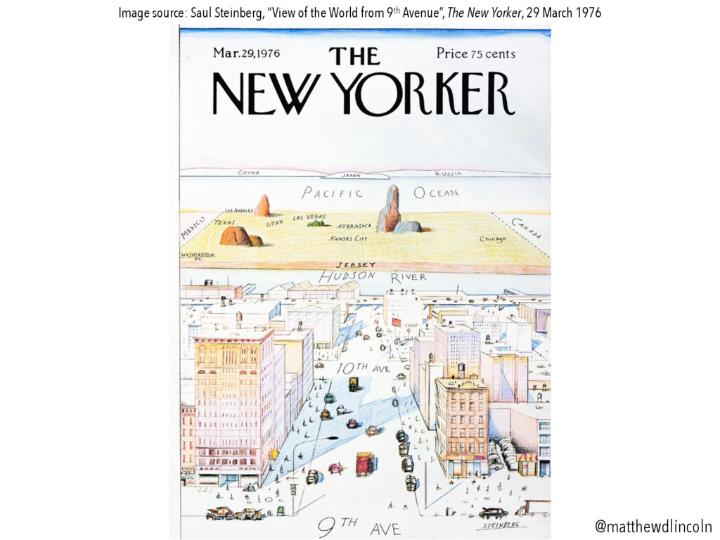 """Image source: Saul Steinberg, """"View of the Worl..."""