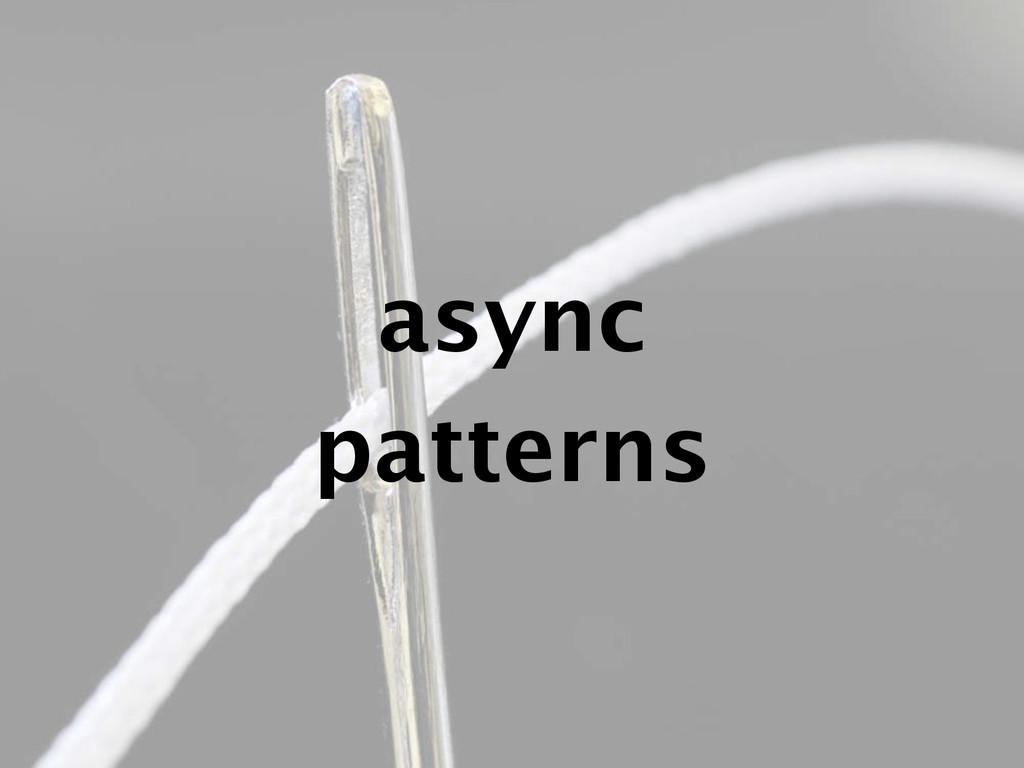 async patterns