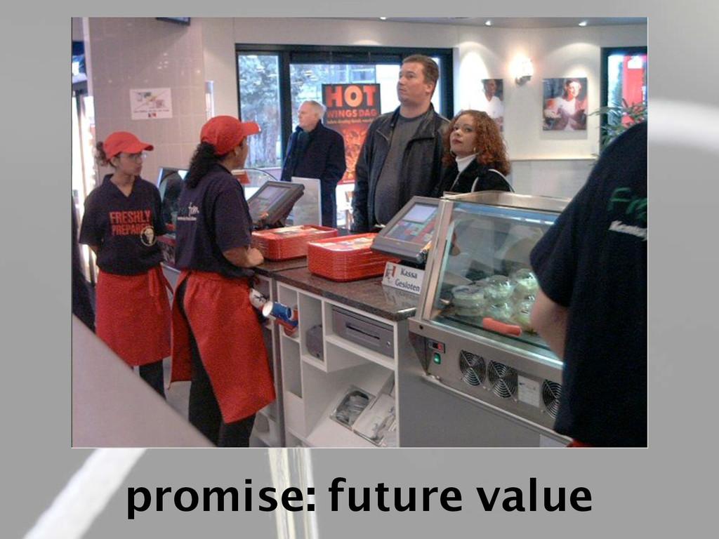promise: future value