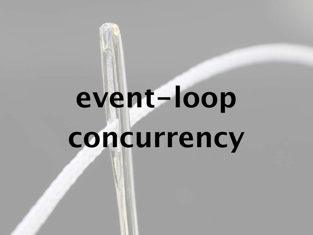 event-loop concurrency