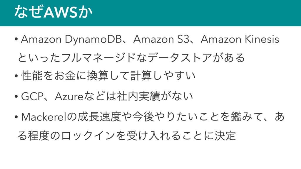 ͳͥAWS͔ • Amazon DynamoDBɺAmazon S3ɺAmazon Kines...