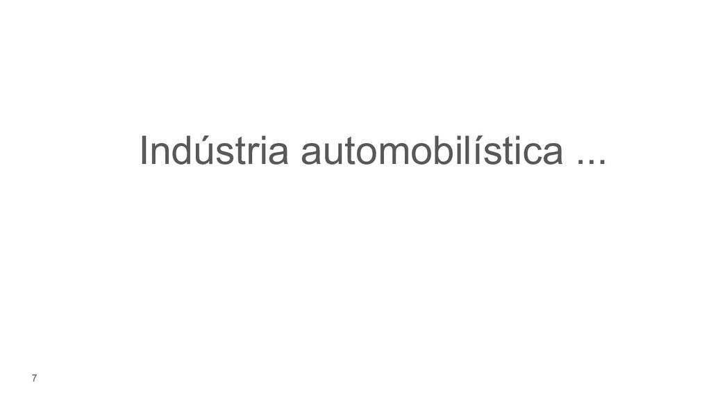 7 Indústria automobilística ...