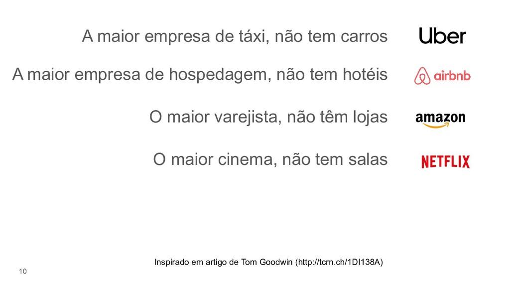 A maior empresa de táxi, não tem carros 10 A ma...