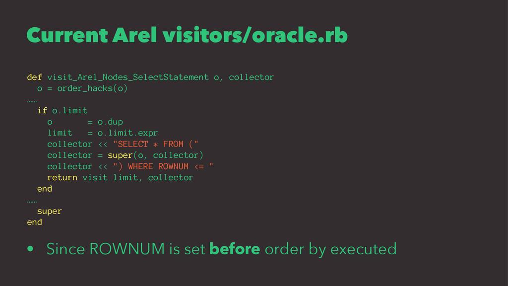 Current Arel visitors/oracle.rb def visit_Arel_...