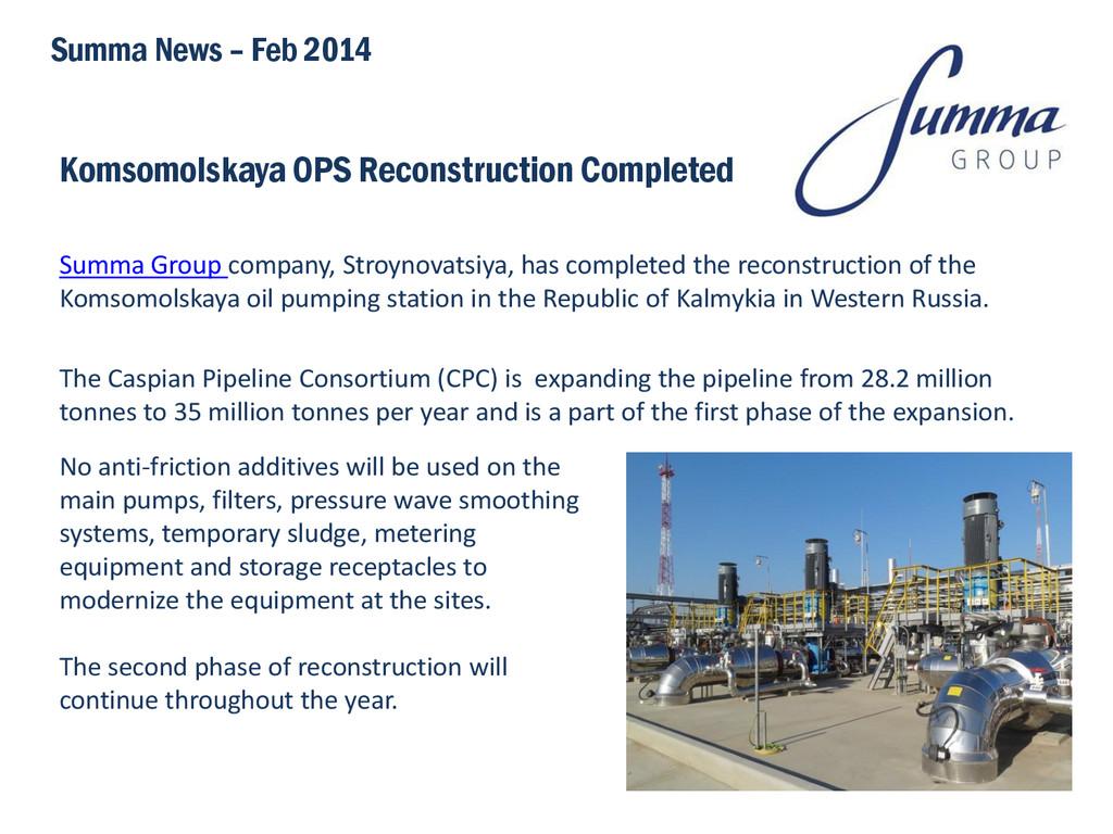 Komsomolskaya OPS Reconstruction Completed Summ...
