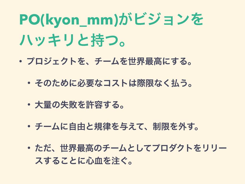 PO(kyon_mm)͕ϏδϣϯΛ ϋοΩϦͱͭɻ • ϓϩδΣΫτΛɺνʔϜΛੈք࠷ߴʹ͢...