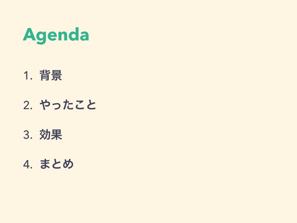 Agenda 1. എܠ 2. ͬͨ͜ͱ 3. ޮՌ 4. ·ͱΊ